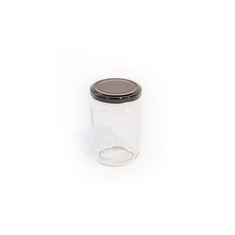 Ronde Glazen Pot.Glazen Pot Met Schroefdeksel 250ml